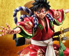 Monkey D. Luffy Kabuki Edition (One Piece) Excellent Model P.O.P. PVC-Statue 1/8 21cm Megahouse