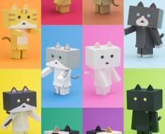 Nyanboard Cat in Danboard Sortiment 10 Stk. (Yotsubato!) Actionfiguren 6cm Sentinel ***SORTIERT****