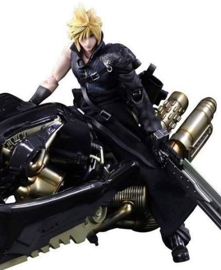 Cloud Strife & Fenrir (Final Fantasy VII Advent Children) Play Arts Kai Actionfigur 28cm Square Enix