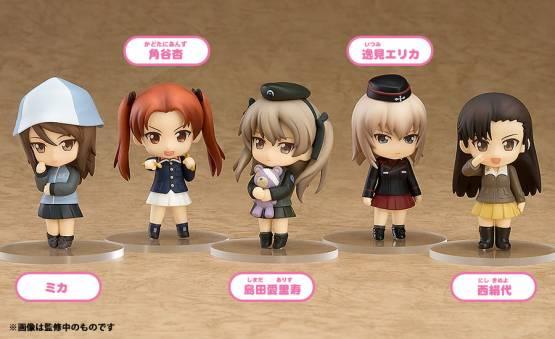 Display Series 02 (Girls und Panzer) Nendoroid Petite Figuren-Set 6Stk. 7cm