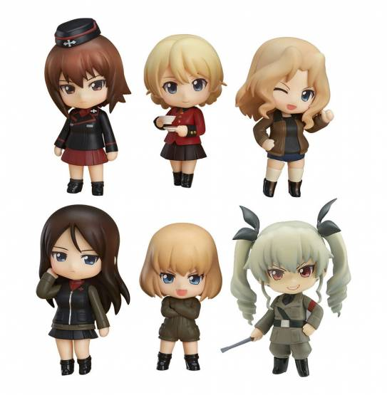 Other High Schools Version (Girls und Panzer) Nendoroid Petite Figuren-Set 6Stk. 7cm