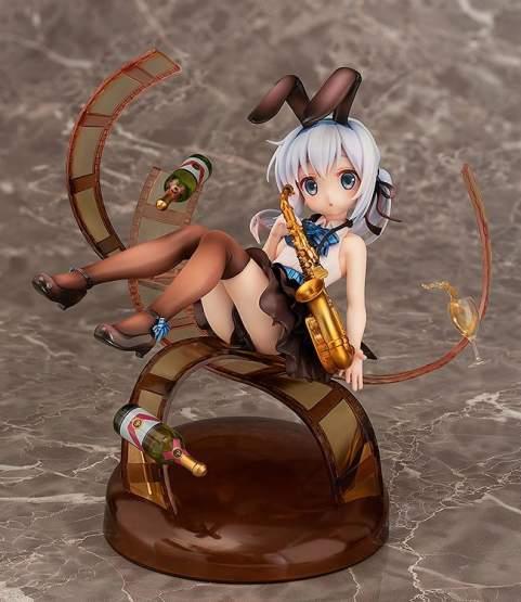 Chino Jazz Style (Is the Order a Rabbit?) PVC-Statue 1/8 16cm Aqua Marine