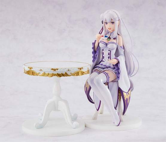 Emilia Tea Party Version (Re:ZERO Starting Life in Another World) PVC-Statue 1/7 20cm Kadokawa