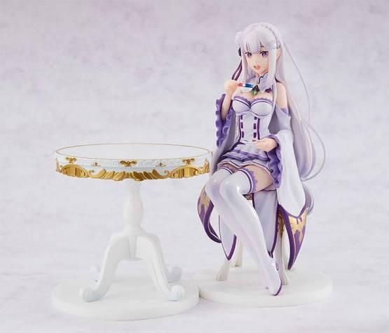 Emilia Tea Party Version (Re:ZERO Starting Life in Another World) PVC-Statue 1/7 20cm Kadokawa