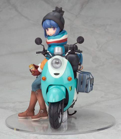 Rin Shima with Scooter (Laid-Back Camp) PVC-Statue 1/10 15cm Alter