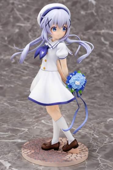 Chino Summer Uniform (Is the Order a Rabbit) PVC-Statue 1/7 21cm PLUM