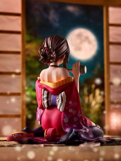 Peeled Back Kimono by Matarou (Original Character) PVC-Statue 1/6 16cm Pink Cat