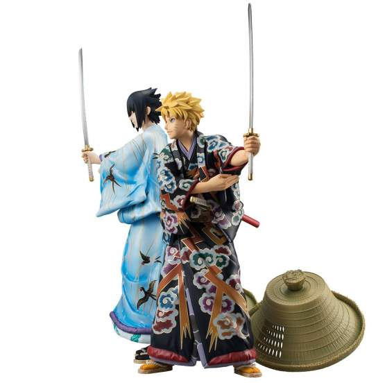 Naruto Uzumaki & Sasuke Uchiha Kabuki Version (Naruto Shippuden) G.E.M. PVC-Statuen Doppelpack 23cm Megahouse