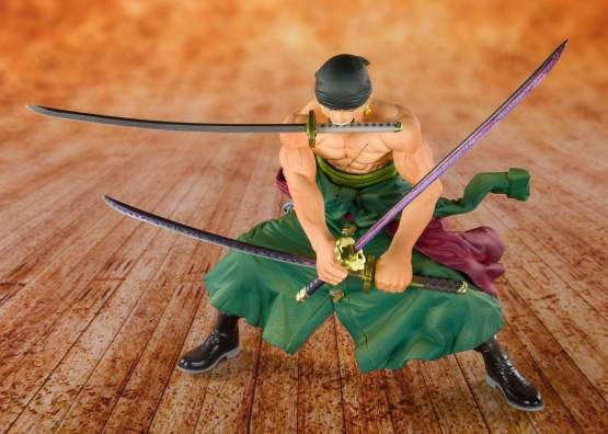 Piratenjäger Zorro (One Piece) FiguartsZERO PVC-Statue 11cm Bandai Tamashii Nations