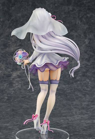 Emilia Wedding Version (Re:ZERO -Starting Life in Another World) PVC-Statue 1/7 25cm Phat