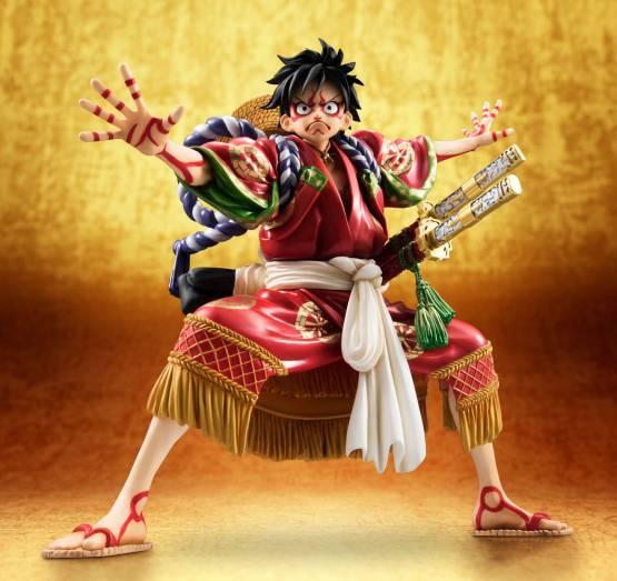 Monkey D. Luffy Kabuki Edition (One Piece) Excellent Model P.O.P. PVC-Statue 1/8 21cm Megahouse