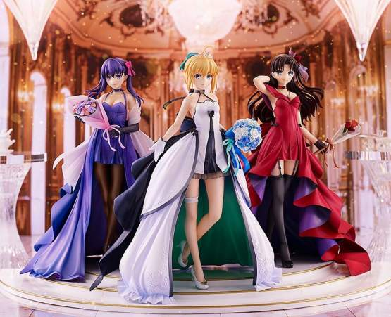 Saber, Rin Tohsaka und Sakura Matou 15th Celebration Dress Version Premium Box (Fate/Stay Night) PVC-Statue 1/7 25cm Good Smile Company