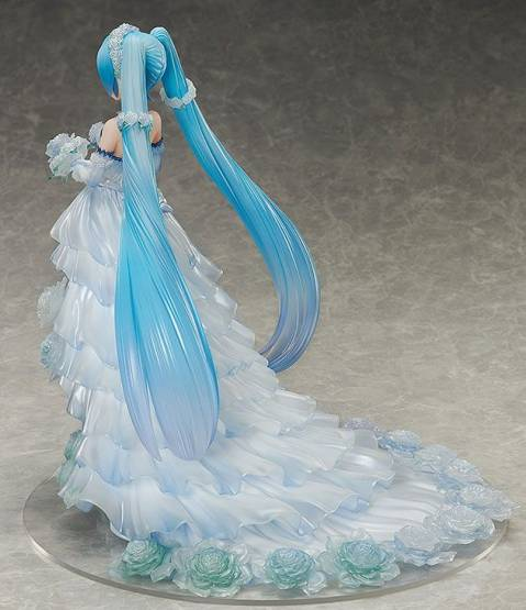 Hatsune Miku Wedding Dress Version (Character Vocal Series 01) PVC-Statue 1/7 25cm FREEing