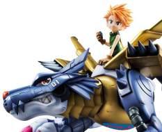 Metal Garurumon & Ishida Yamato (Digimon Adventure) G.E.M. PVC-Statue 30cm Megahouse -NEUAUFLAGE-