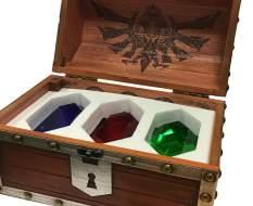 Rubin-Truhe Briefbeschwerer 3er-Pack (Legend of Zelda) Replik 25cm Pyramid International -AUSTELLUNGSSTÜCK-