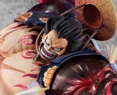 SA-Maximum Monkey D. Ruffy Gear 4 Bounce Man Version 2 (One Piece) P.O.P. PVC-Statue 27cm Megahouse