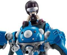 SAC_2045 Tachikoma & Kusanagi Motoko (Ghost in the Shell) Desktop Army Actionfigur 8-14cm Megahouse
