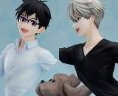 Yuri, Victor & Makkachin (Yuri!!! on Ice) PVC-Statue 1/8 23cm Good Smile Company