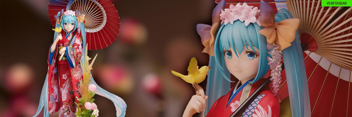 Miku Hatsune Hanairogoromo Version (Character Vocal Series 01) PVC-Statue 1/8 23cm Stronger