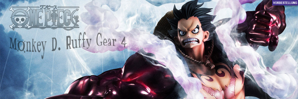 Monkey D. Ruffy Gear 4 (One Piece) Excellent Model P.O.P. Limited PVC-Statue 20cm Megahouse